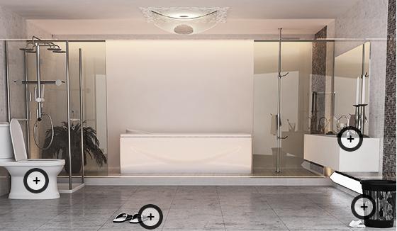 욕실용품 설명 사진